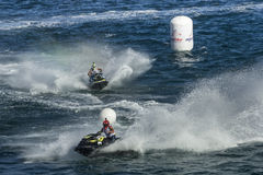 Jet ski race competition duel Stock Image