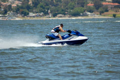 Jet Ski Racer. On the Lake Stock Images
