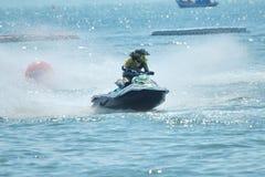 Jet Ski Racer dans l'action Photo stock