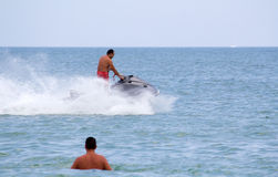 Jet ski racing Royalty Free Stock Image
