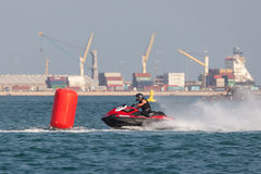 Jet Ski racing in Doha, Qatar Stock Images