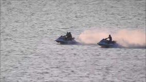 Jet ski racing stock video footage
