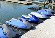 Jet ski rentals at marina Royalty Free Stock Photography