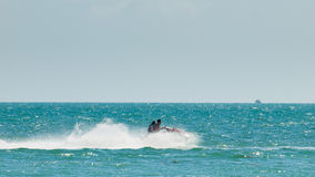 Jet Ski. Riding jet ski at Key West, Florida royalty free stock images