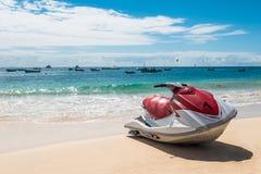 Jet Ski in  Santa Maria beach in Sal Cape Verde - Cabo Verde Stock Images