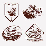 Jet ski set of stylized vector symbols Stock Photo