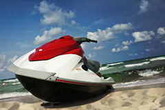 Jet ski shore Royalty Free Stock Photos