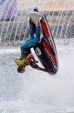 Jet Ski Show in Overzeese Wereld Gouden Kust Queensland Australië Stock Foto
