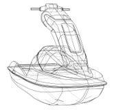 Jet ski sketch. Vector Stock Photo