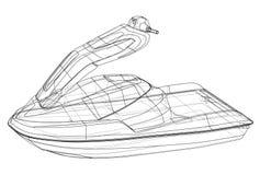 Jet ski sketch. Vector Stock Photography
