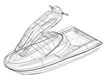 Jet ski sketch. Vector Royalty Free Stock Photos