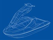 Jet ski sketch. Vector Royalty Free Stock Image