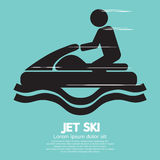 Jet Ski Sport Sign Imagen de archivo