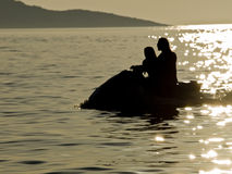 Jet ski sunset Royalty Free Stock Photography
