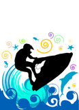 Jet ski vector Royalty Free Stock Image