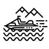 Water activity Line Icon royalty free illustration