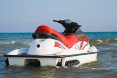 Jet-ski on water stock photos