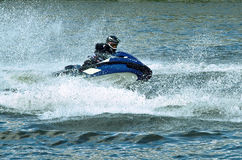 Jet ski water sport. High speed crazy jet ski water sport Stock Images