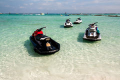 Jet ski. Water sports. The popular holiday Stock Images