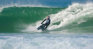 Jet ski in the waves Stock Photos