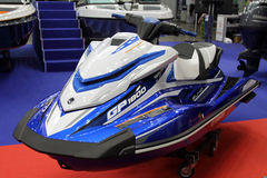 Jet-ski Yamaha FX cruiser SVHO in the exhibition Crocus Expo in Royalty Free Stock Photo