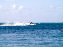 Jet skier in ocean Royalty Free Stock Photography