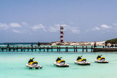 Jet Skies Cancun Yucatan Mexico Stock Photos