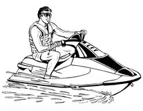 Jet Skiing Royalty Free Stock Photos