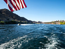 Jet skiing on the Colorado River Royalty Free Stock Image