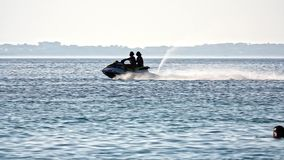 Jet Skiing In Slow Motion archivi video