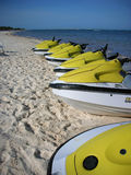 Jet Skis. On the mayan riviera Stock Photography