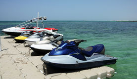 Jet skis royalty free stock image