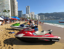 Jet Skis at the Beach Stock Images