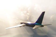 Jet in sky. Stock Image