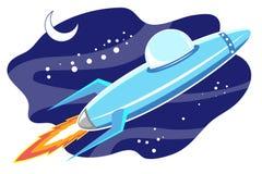 Jet space in sky Stock Image