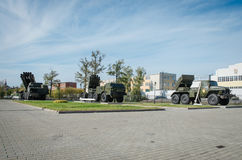 Jet system of volley fire Smerch, Uragan, grad. The Russian army Stock Photo