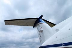 Jet Tail Section imagem de stock