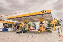 Jet-Tankstelle Stockbild
