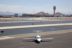 Jet on tarmac Royalty Free Stock Images