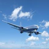 Jet tijdens de vlucht Royalty-vrije Stock Afbeelding