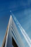 Jet Trail Across Sky Royalty Free Stock Photo