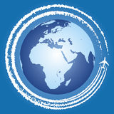 Jet trails Stock Image