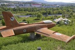 Jet-Trainer Aermacchi MB-326 Stockfotografie