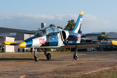 Jet trainer aircraft Royalty Free Stock Photo
