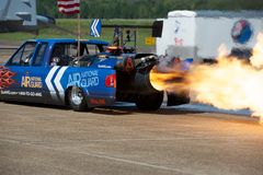 Jet Truck Afterburners Stock Photos