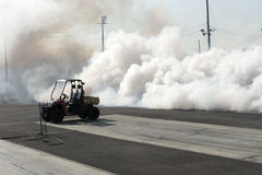 Jet truck smoke Royalty Free Stock Images