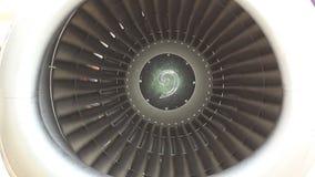 Jet turbine engine stock video footage