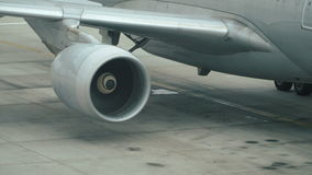 Jet turbine engine stock video