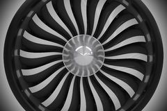 Jet Turbine Fan Closeup Royaltyfria Bilder
