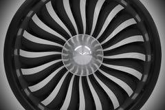 Jet Turbine Fan Closeup Imágenes de archivo libres de regalías